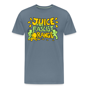 Juice the Fascist Orange - Purple - Men's Premium T-Shirt