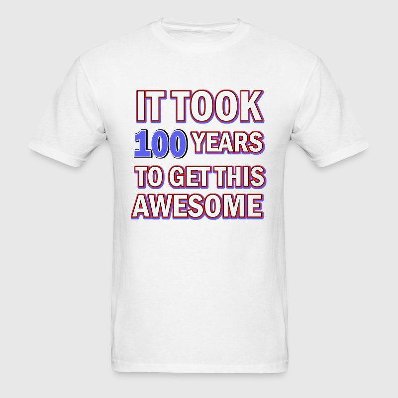 100 birthday design - Men's T-Shirt