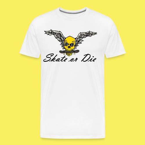 Skate or die skull - Men's Premium T-Shirt