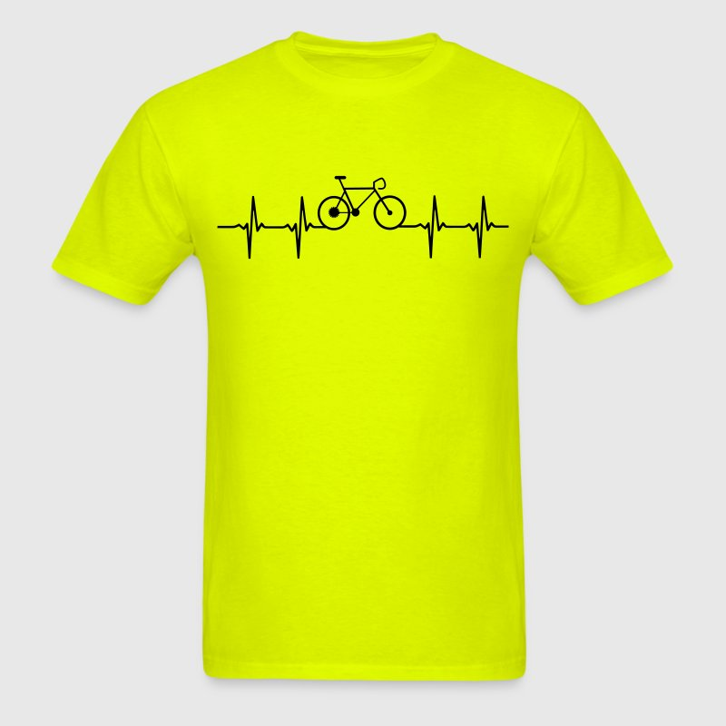 Racing Bike shirt with heartbeat line - Men's T-Shirt