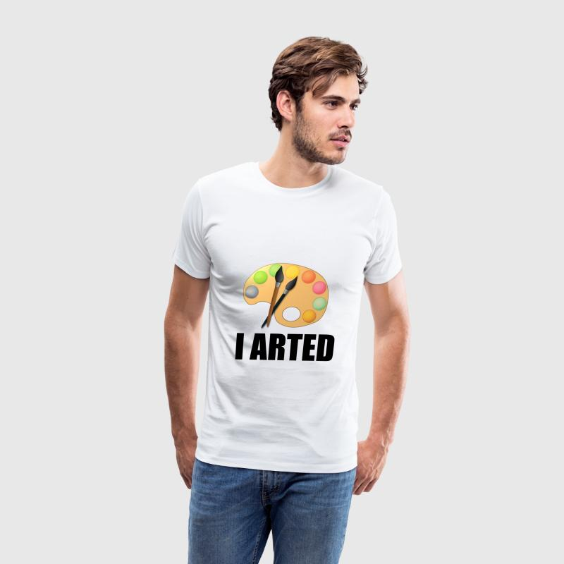 I arted - Men's Premium T-Shirt