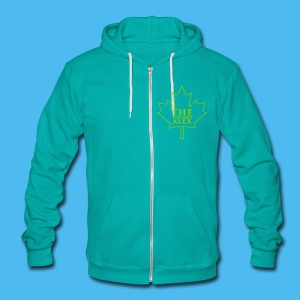 Unisex Fleece Zip Hoodie by American Apparel