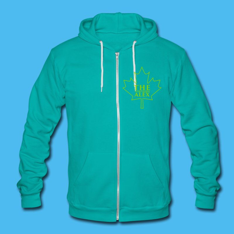 TheNorthernAlex_Logo (1) - Unisex Fleece Zip Hoodie by American Apparel