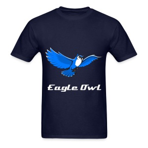 Eagle Owl Mens T-Shirt With Custom Text - Men's T-Shirt