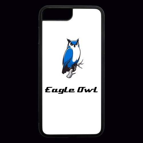 Eagle Owl Blue Custom iPhone 7 Plus Rubber Case - iPhone 7 Plus/8 Plus Rubber Case