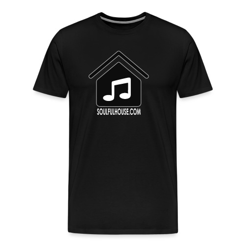 Logo Soulful House black inner notes white font ou - Men's Premium T-Shirt