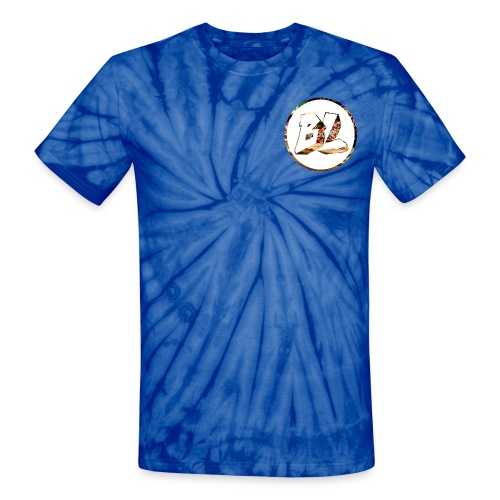 Badladz logo, small, tie dye - Unisex Tie Dye T-Shirt