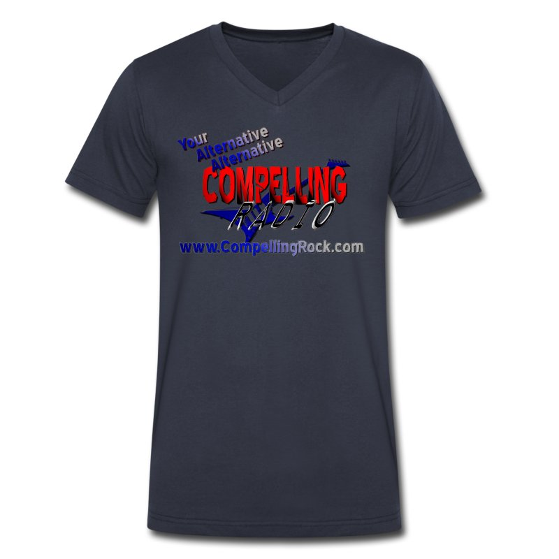 Compelling Radio V-Neck Tee - Men's V-Neck T-Shirt by Canvas