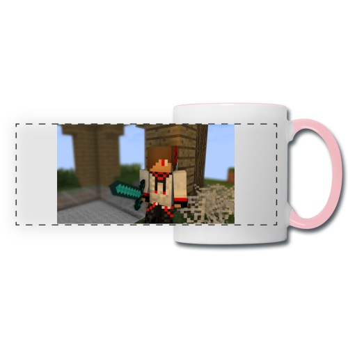 1052 : white/pink - Panoramic Mug