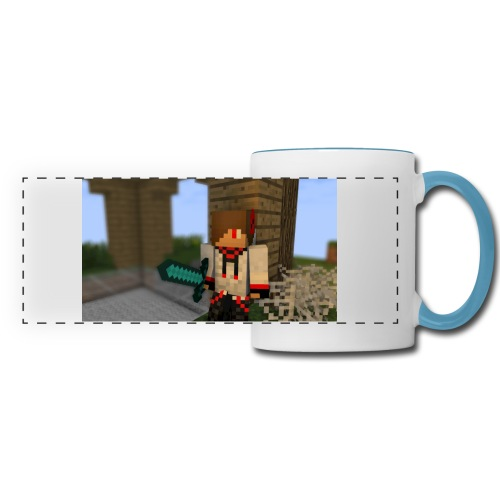1052 : white/light blue - Panoramic Mug