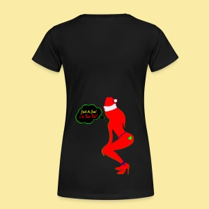 ♥ټSpank Me Santa, I've been Bad Premium Teeټ♥ - Women's Premium T-Shirt
