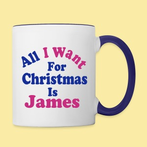 ↷♥All I want for Christmas is James Mug♥↶ - Contrast Coffee Mug