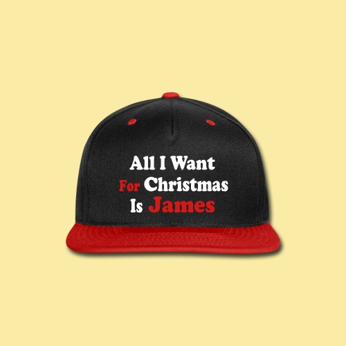 ↷♥All I want for Christmas is James Snapback Cap♥↶ - Snap-back Baseball Cap