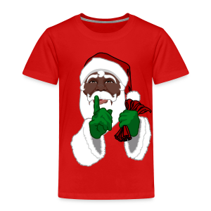 African Santa Baby T-shirt Toddler Christmas Shirts - Toddler Premium T-Shirt
