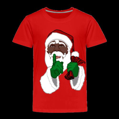 African Santa Baby T-shirt Toddler Christmas Shirts - Toddler Premium T-Shirt