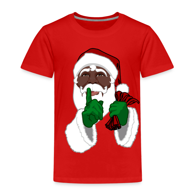 African Santa Baby T-shirt Toddler Christmas Shirts