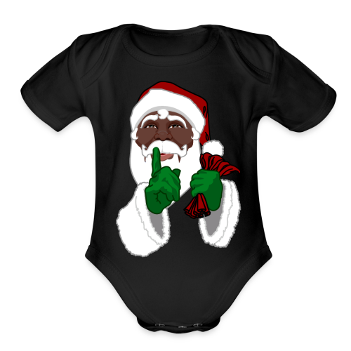 African Santa Baby Bodysuit Toddler Christmas Shirts - Organic Short Sleeve Baby Bodysuit