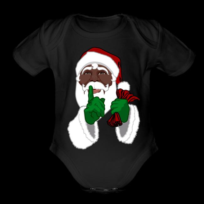 African Santa Baby Bodysuit Toddler Christmas Shirts