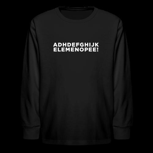 ADHD Education Alphabet Kid's - Kids' Long Sleeve T-Shirt