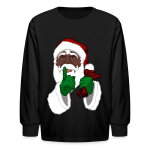 Kids African Santa Shirt Festive Kid's Christmas Shirts - Kids' Long Sleeve T-Shirt