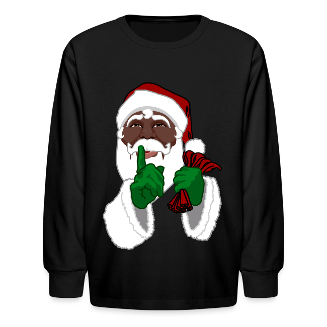 0c3adab4 Souvenirs And Gifts By Kim Hunter Collection Kids African Santa · Long Sleeve  Christmas Shirts