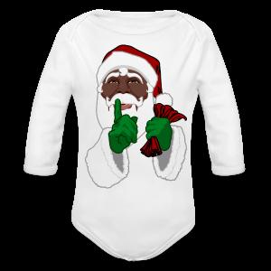 African Santa Baby Bodysuit Toddler Christmas Shirts - Long Sleeve Baby Bodysuit
