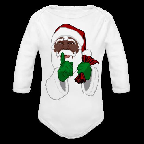 African Santa Baby Bodysuit Toddler Christmas Shirts - Organic Long Sleeve Baby Bodysuit