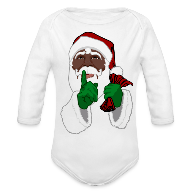 African Santa Baby Bodysuit Toddler Christmas Shirts