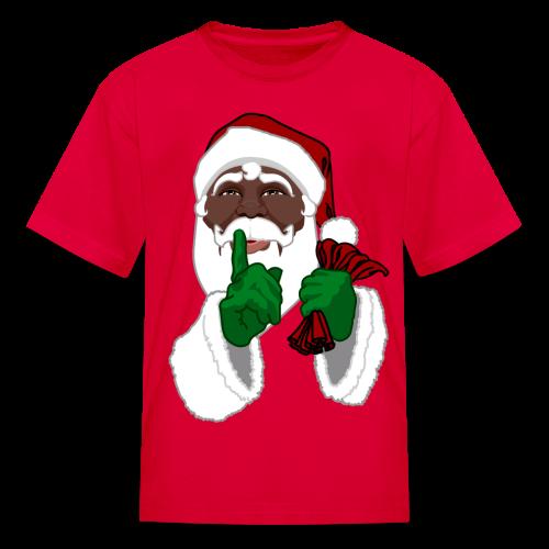 Kid's African Santa Shirt Festive Kid's Christmas Shirts - Kids' T-Shirt