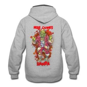 Here Comes (ZOMBIE) Santa - Contrast Hoodie