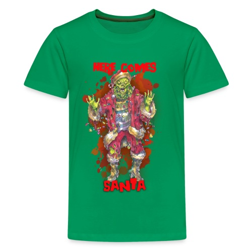 Here Comes (ZOMBIE) Santa - Kids' Premium T-Shirt