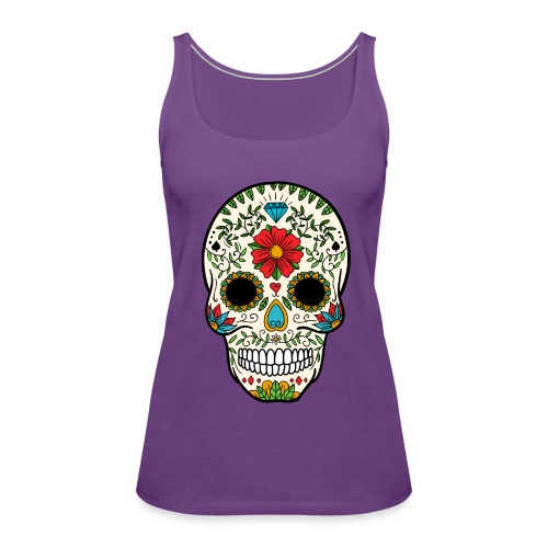 Sugar Skull - Day of the Dead #8 - Women's Premium Tank Top