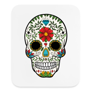 Sugar Skull - Day of the Dead #8 - Mouse pad Vertical