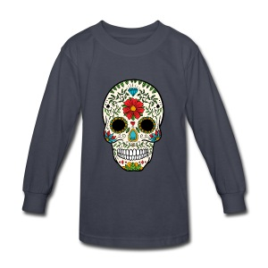 Sugar Skull - Day of the Dead #8 - Kids' Long Sleeve T-Shirt