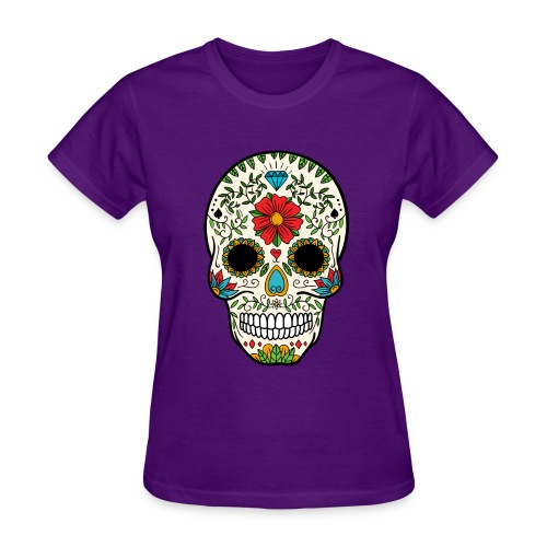 Sugar Skull - Day of the Dead #8 - Women's T-Shirt