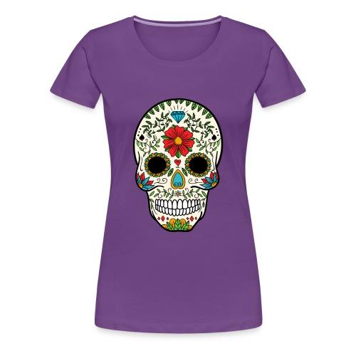 Sugar Skull - Day of the Dead #8 - Women's Premium T-Shirt