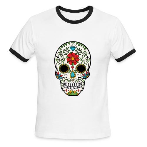 Sugar Skull - Day of the Dead #8 - Men's Ringer T-Shirt