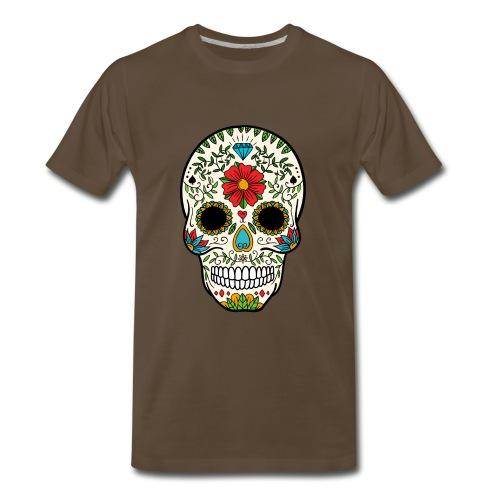 Sugar Skull - Day of the Dead #8 - Men's Premium T-Shirt
