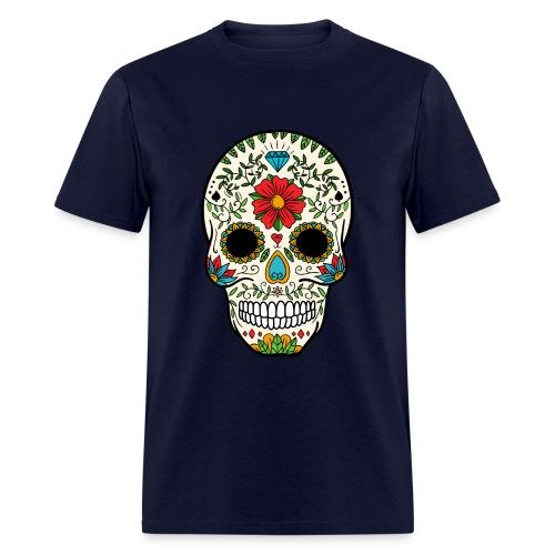 Sugar Skull - Day of the Dead #8 - Men's T-Shirt