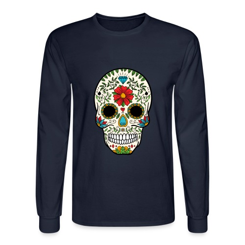 Sugar Skull - Day of the Dead #8 - Men's Long Sleeve T-Shirt