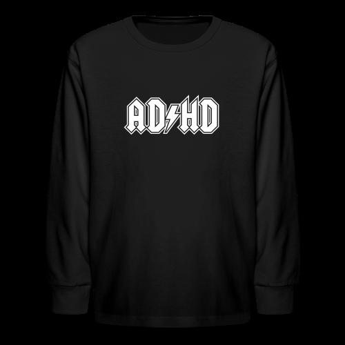 ADHD ACDC Logo - Kids' Long Sleeve T-Shirt