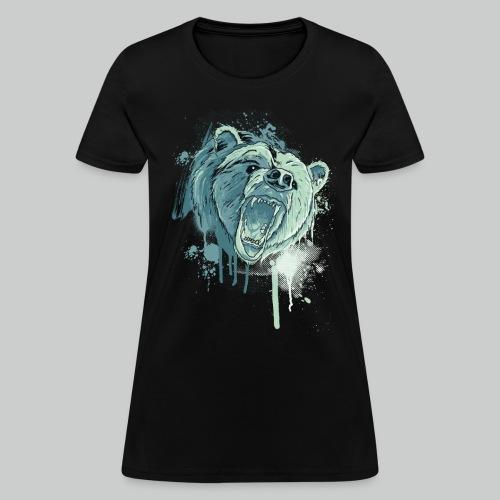 Bear - Women's Black Tee - Women's T-Shirt