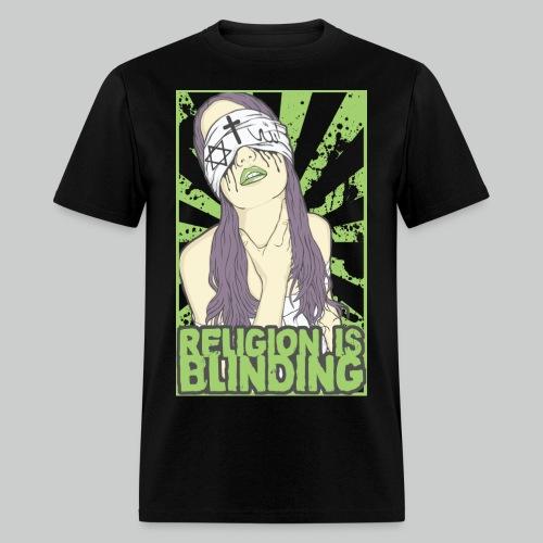 Religion Is Blinding - Men's Black Tee - Men's T-Shirt