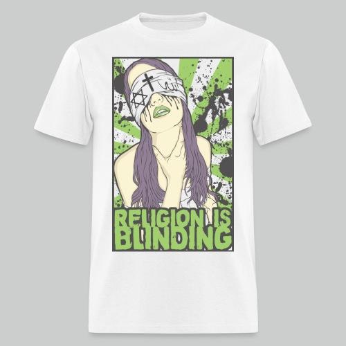 Religion Is Blinding - Men's White Tee - Men's T-Shirt