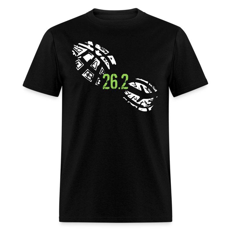26 2 miles running shoe footprint marathon runner t shirt for Marathon t shirt printing