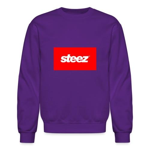 Purple Steez Box Sweater - Crewneck Sweatshirt