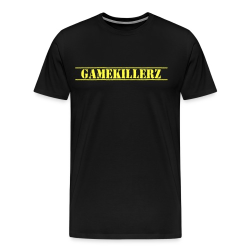 Men's Black T-Shirt w/ Yellow Logo - Men's Premium T-Shirt