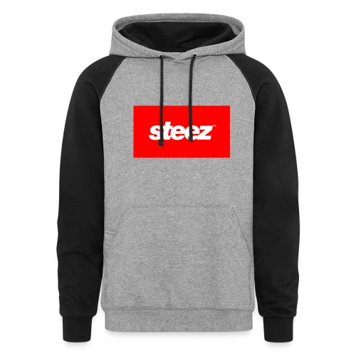 Grey and Black Colorway Steez Hoodie - Colorblock Hoodie