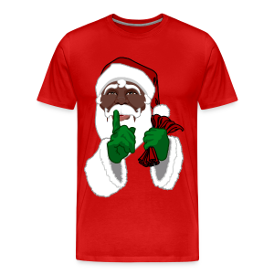 African Santa T-Shirts Men's sm - 5xl Christmas T-shirt - Men's Premium T-Shirt