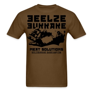 Meat Solutions Shirt (Black on Brown) - Men's T-Shirt